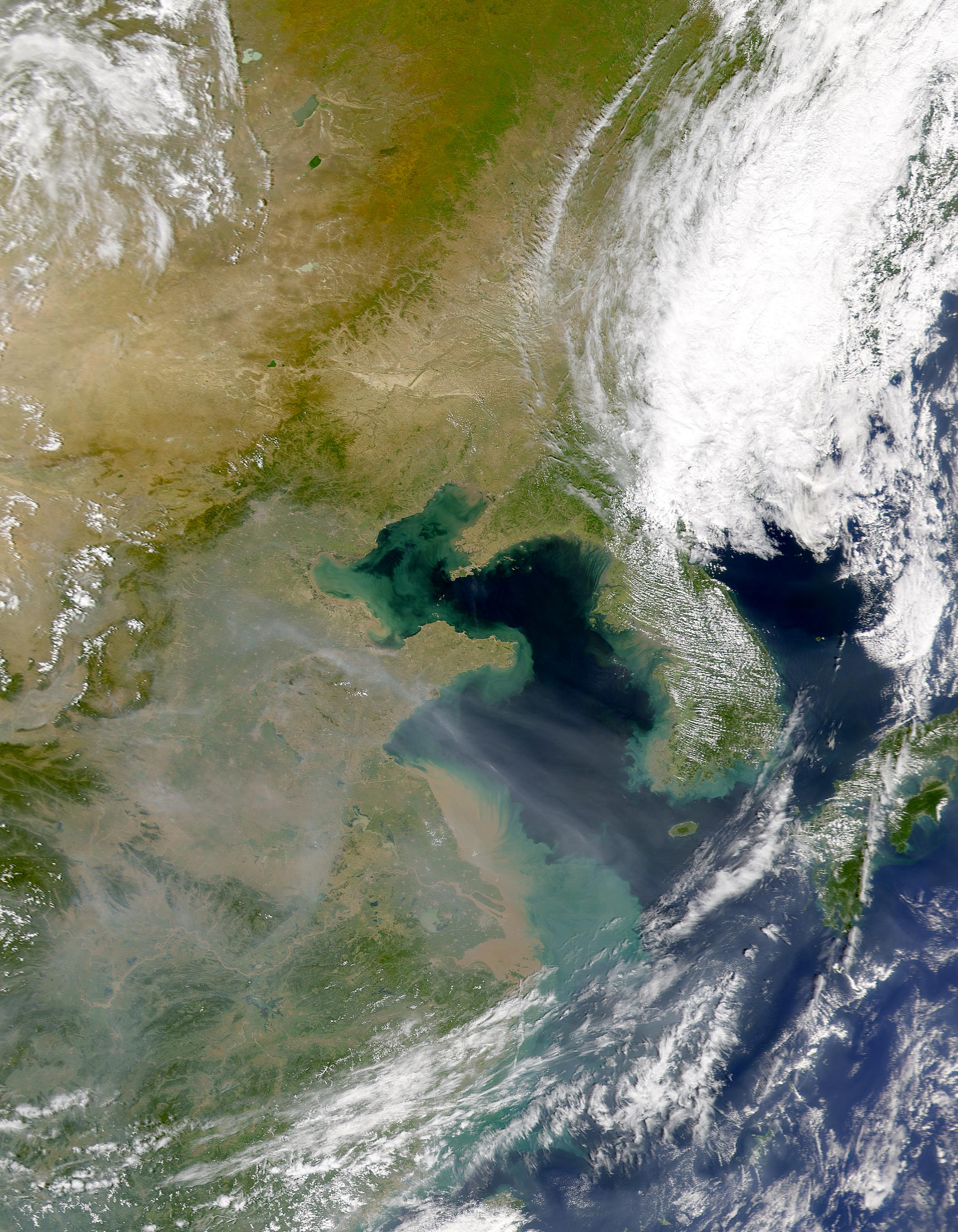 Aerosols Over Yellow Sea Sediments - related image preview