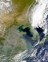 Aerosols Over Yellow Sea Sediments - selected image