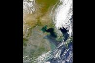 Aerosols Over Yellow Sea Sediments