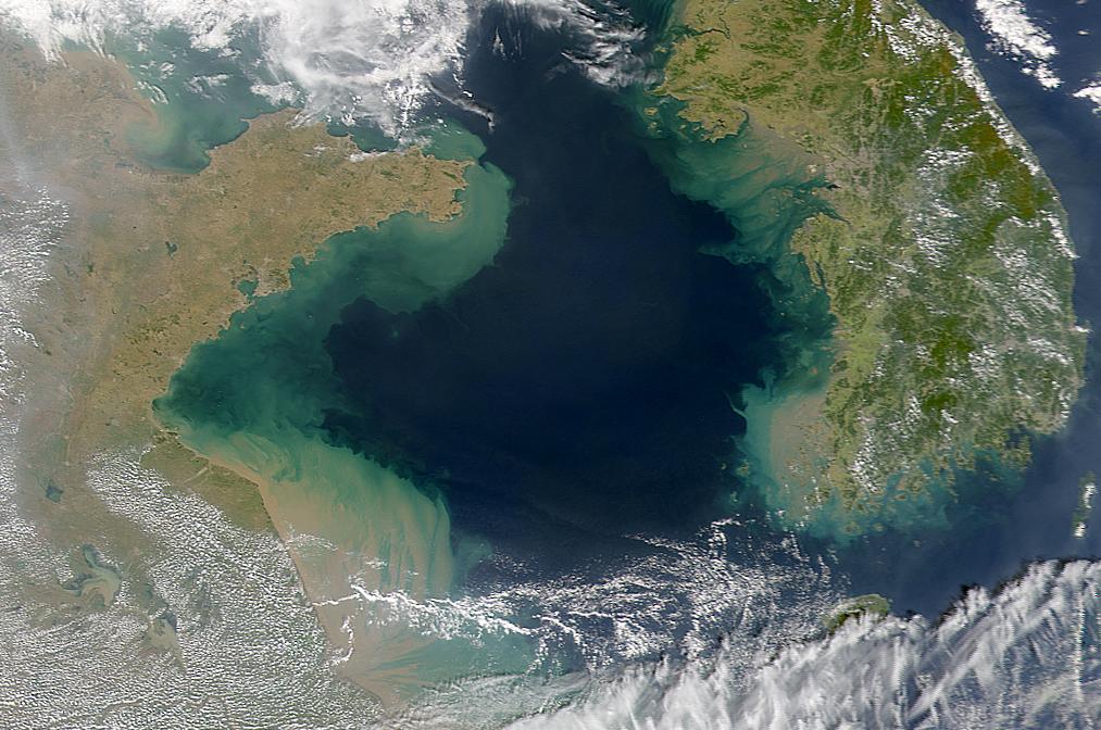 NASA Visible Earth: Yellow Sea