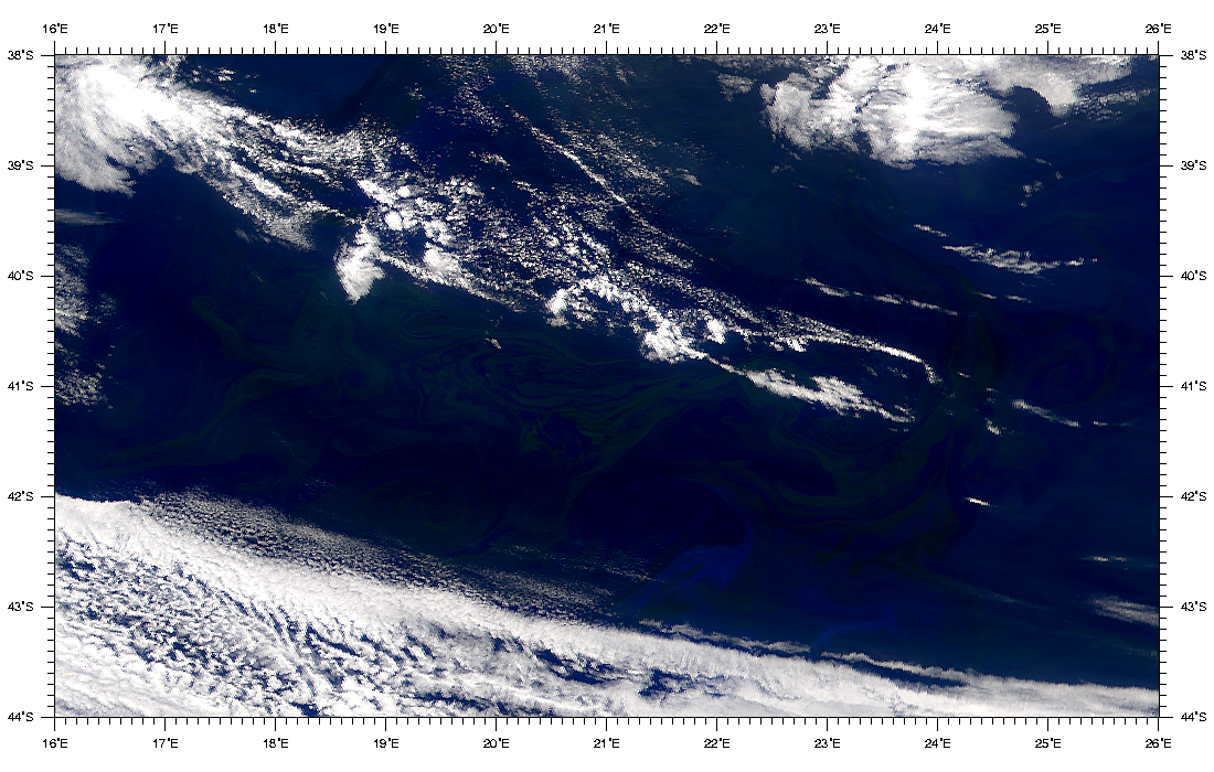 SeaWiFS: Blooms South of Africa - related image preview