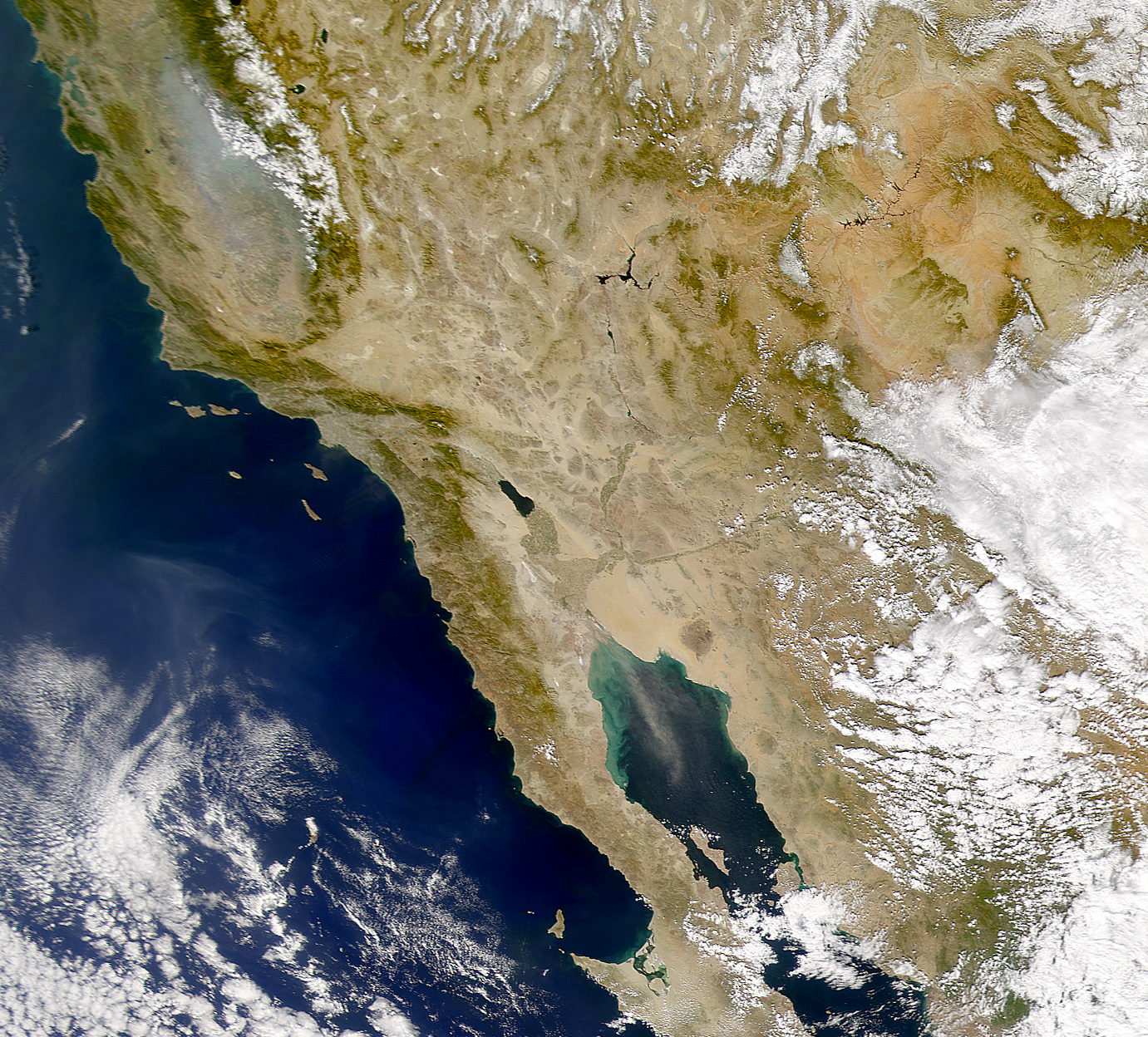 NASA Visible Earth: SeaWiFS: Gulf of California Dust Storm