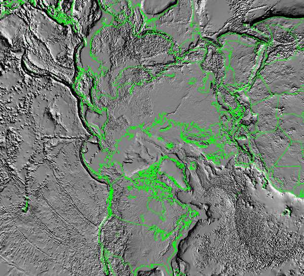Tectonic Map of North Pole - related image preview