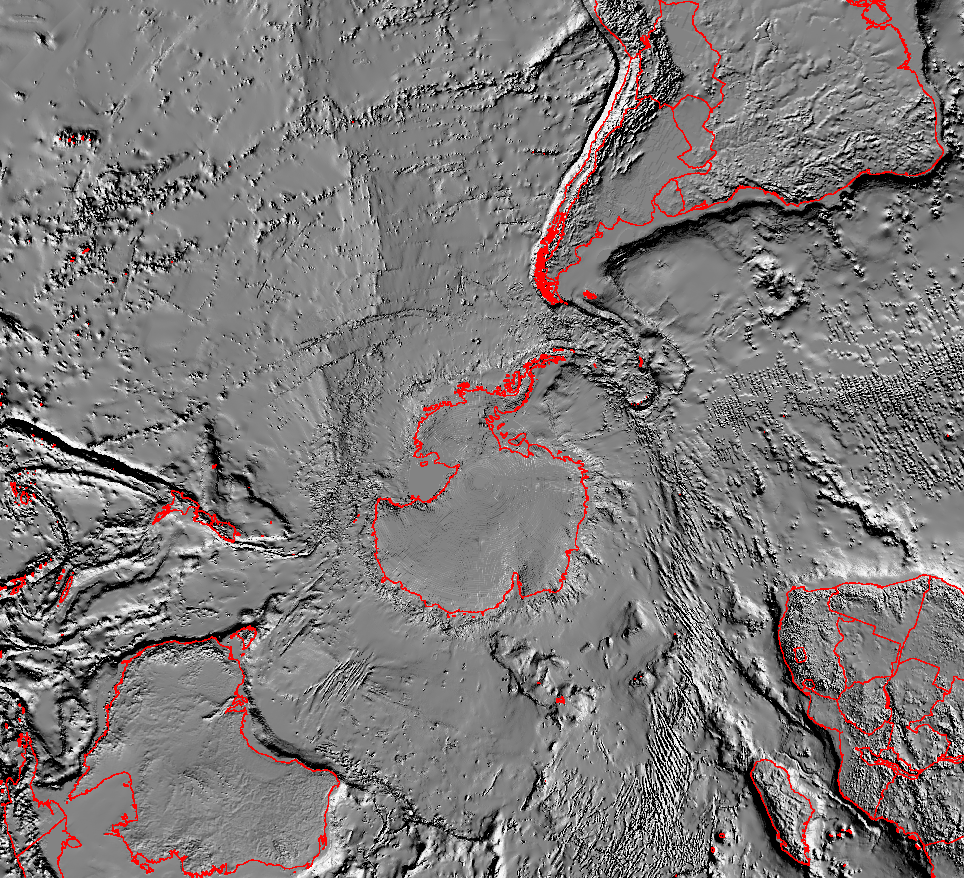 Tectonic Map of South Pole - related image preview