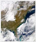 SeaWiFS: North Carolina Snowfall - selected image