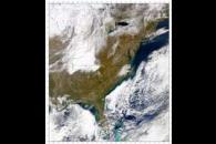 SeaWiFS: North Carolina Snowfall