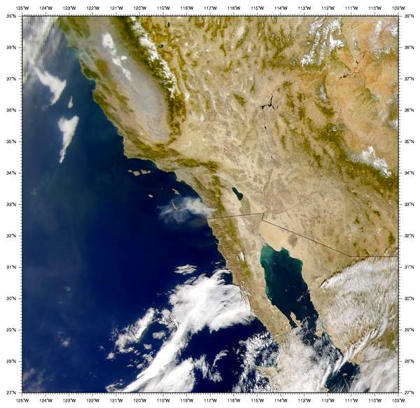 SeaWiFS: Viejas Wildfire - related image preview
