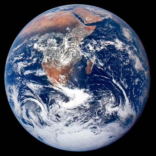 The Blue Marble, a photograph taken by Apollo 17 astronauts, 7 December 1972