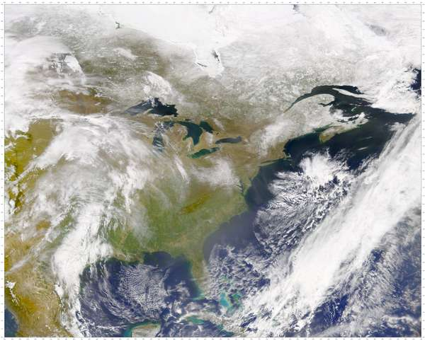 SeaWiFS: Haze over Eastern United States and Canada - related image preview
