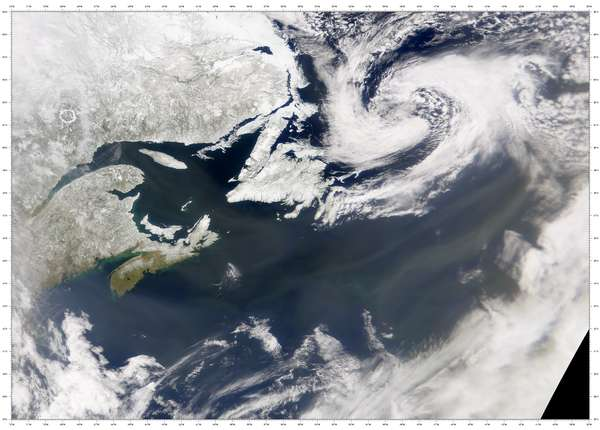 SeaWiFS: Hazy Skies over Maritime Canada - related image preview