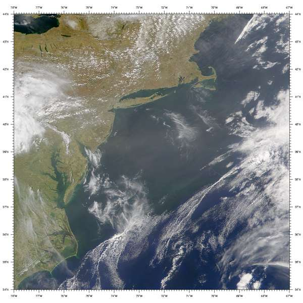 SeaWiFS: Hazy Skies over the U.S. Mid-Atlantic Coast - related image preview