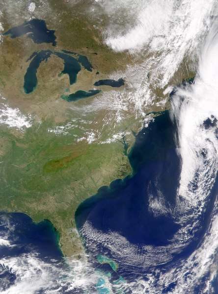 SeaWiFS: Cloud-free Image of the Eastern United States - related image preview