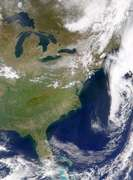 SeaWiFS: Cloud-free Image of the Eastern United States - selected image