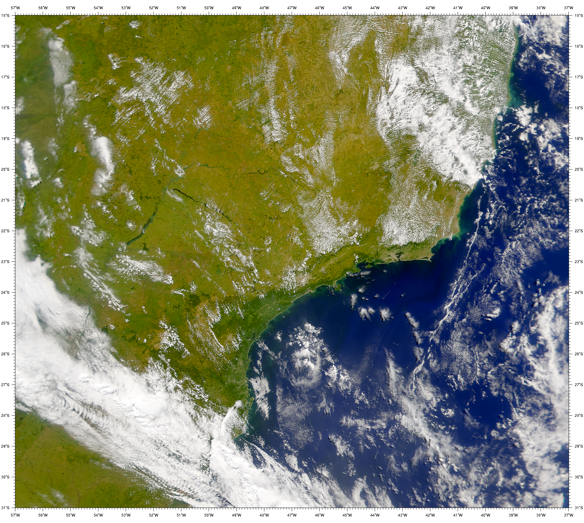 SeaWiFS: Coastal Waters in Southern Brazil - related image preview