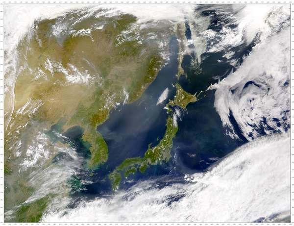 SeaWiFS: Heavy Haze over East Asia - related image preview