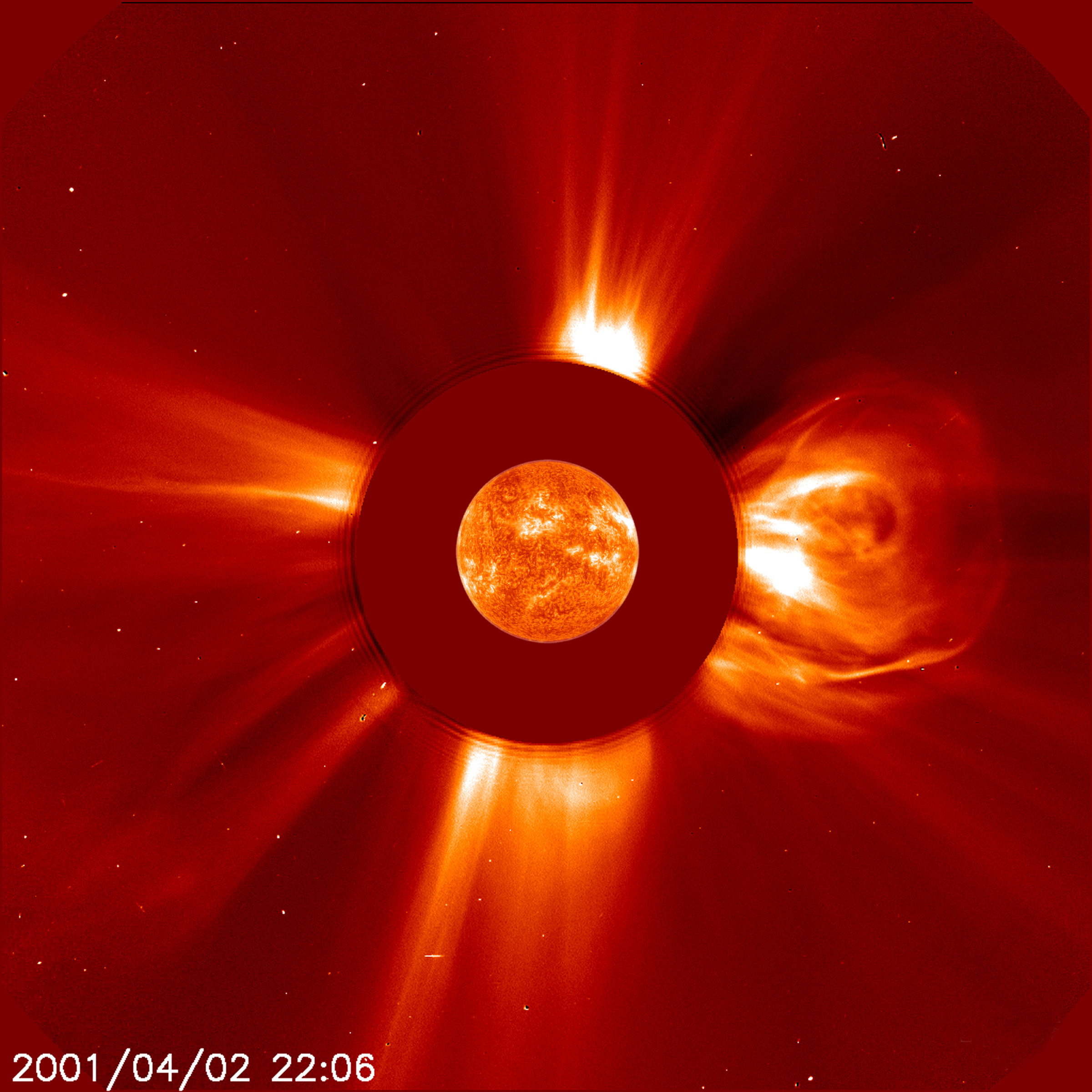 NASA Visible Earth: Biggest Solar Flare on Record