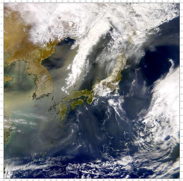 SeaWiFS: East Asian Dust Continues - related image preview