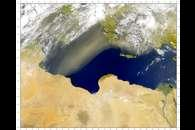 SeaWiFS: Central Mediterranean Dust