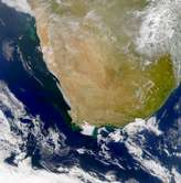 SeaWiFS:  Phytoplankton Blooms along the South African Coast - selected image