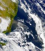 SeaWiFS: Brown Haze Southeast of Sydney - selected image