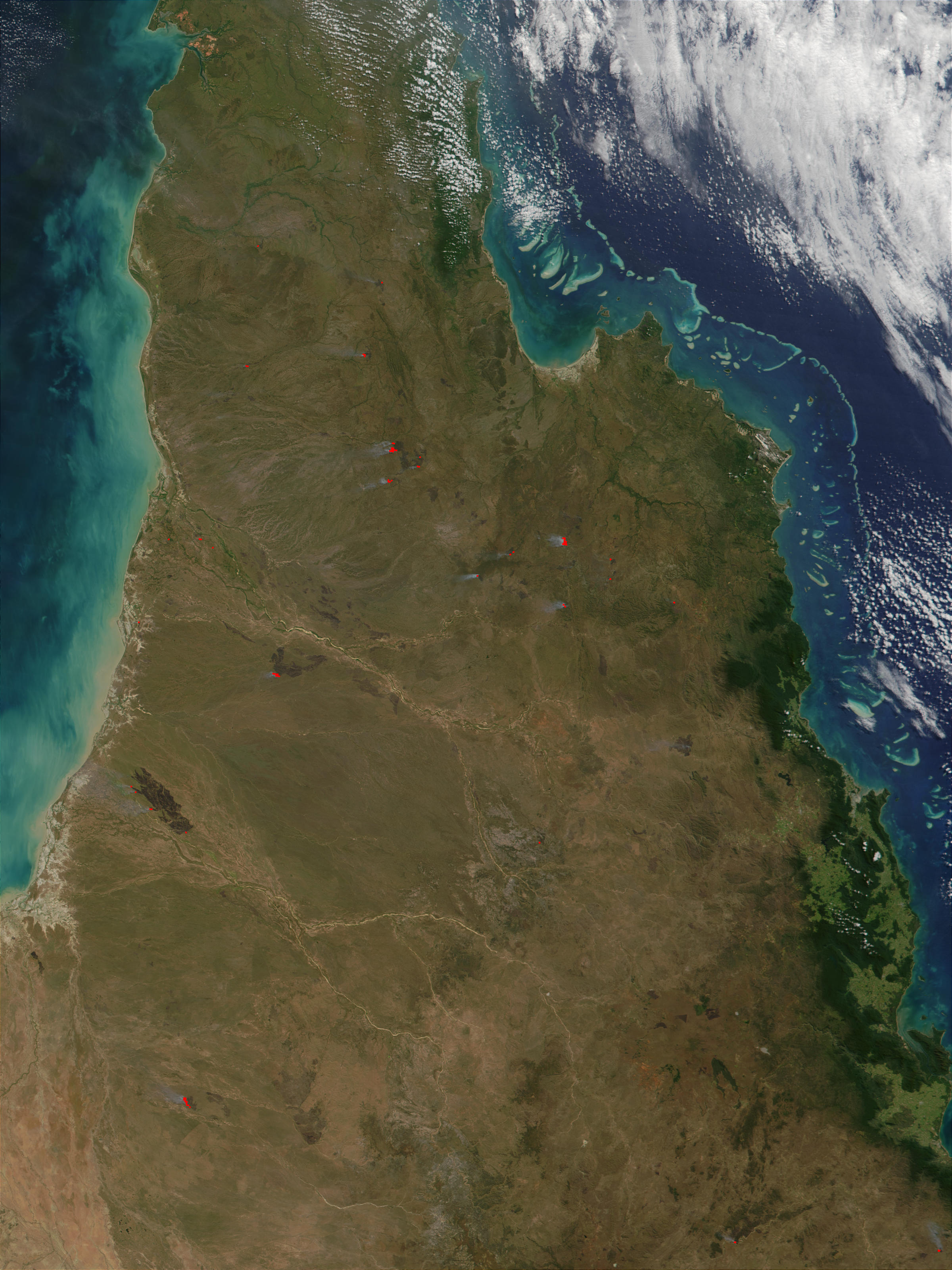 Fires in Cape York Peninsula, Queensland, Australia - related image preview