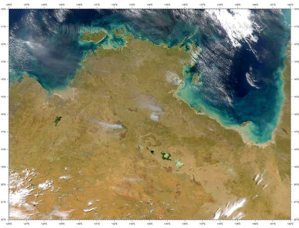SeaWiFS: Fires in Australia's Northern Territory - related image preview