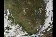 Wildfires west of Lake Baikal, Southern Russia