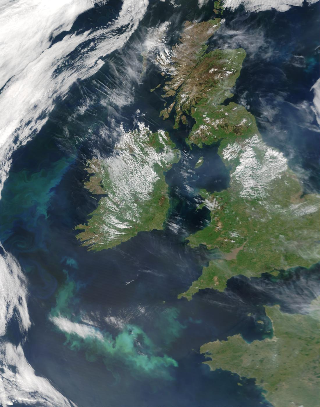Phytoplankton bloom west and south of Ireland - related image preview