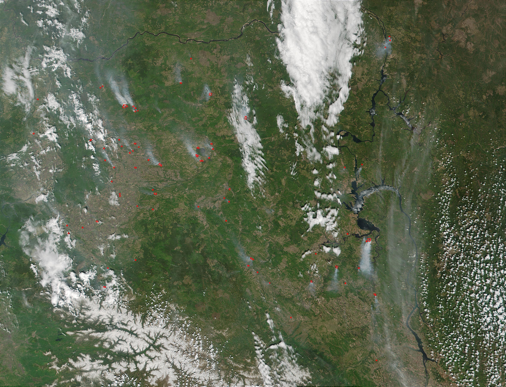 Fires in the Krasnoyarsk and Irkutsk regions, Russia - related image preview