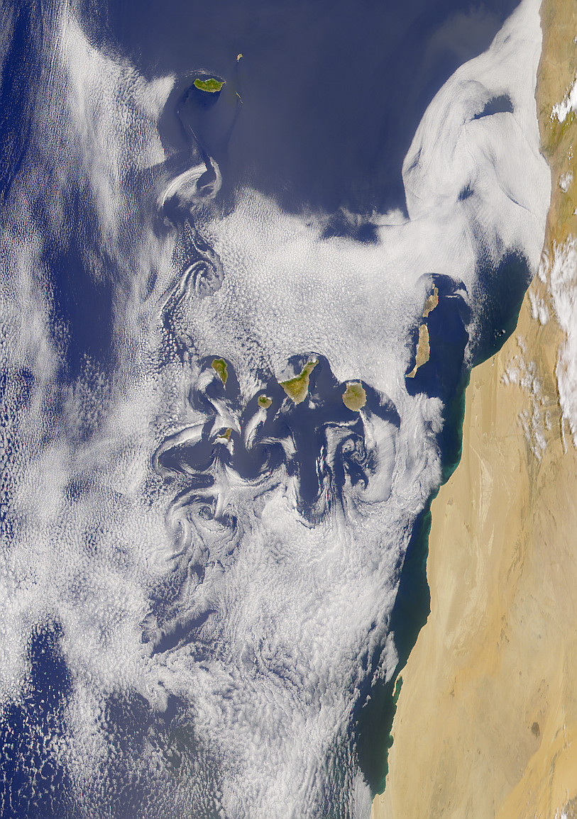 SeaWiFS: Madeira and Canary Islands' Wakes - related image preview