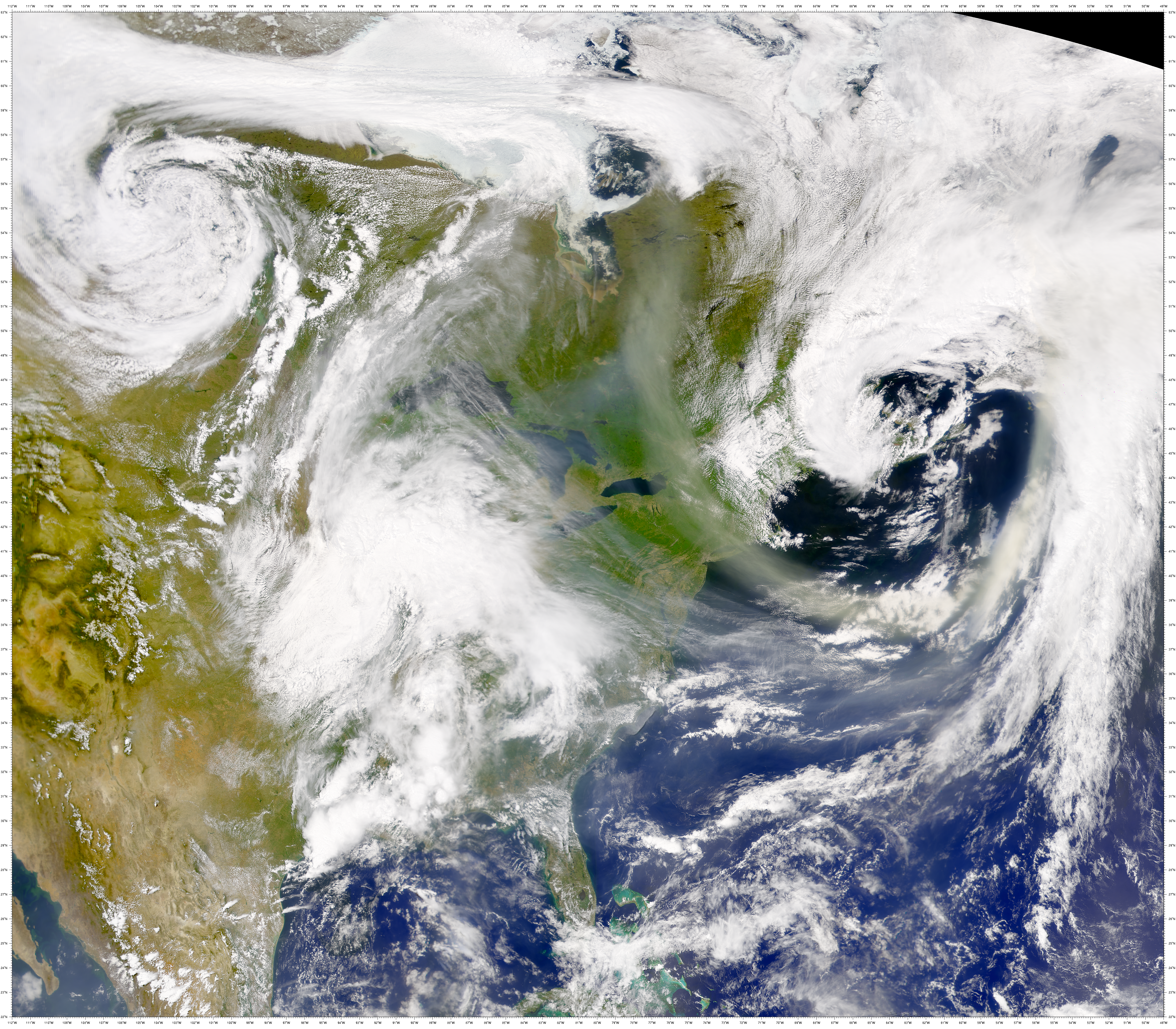 SeaWiFS: Alberta Smoke over Eastern North America - related image preview