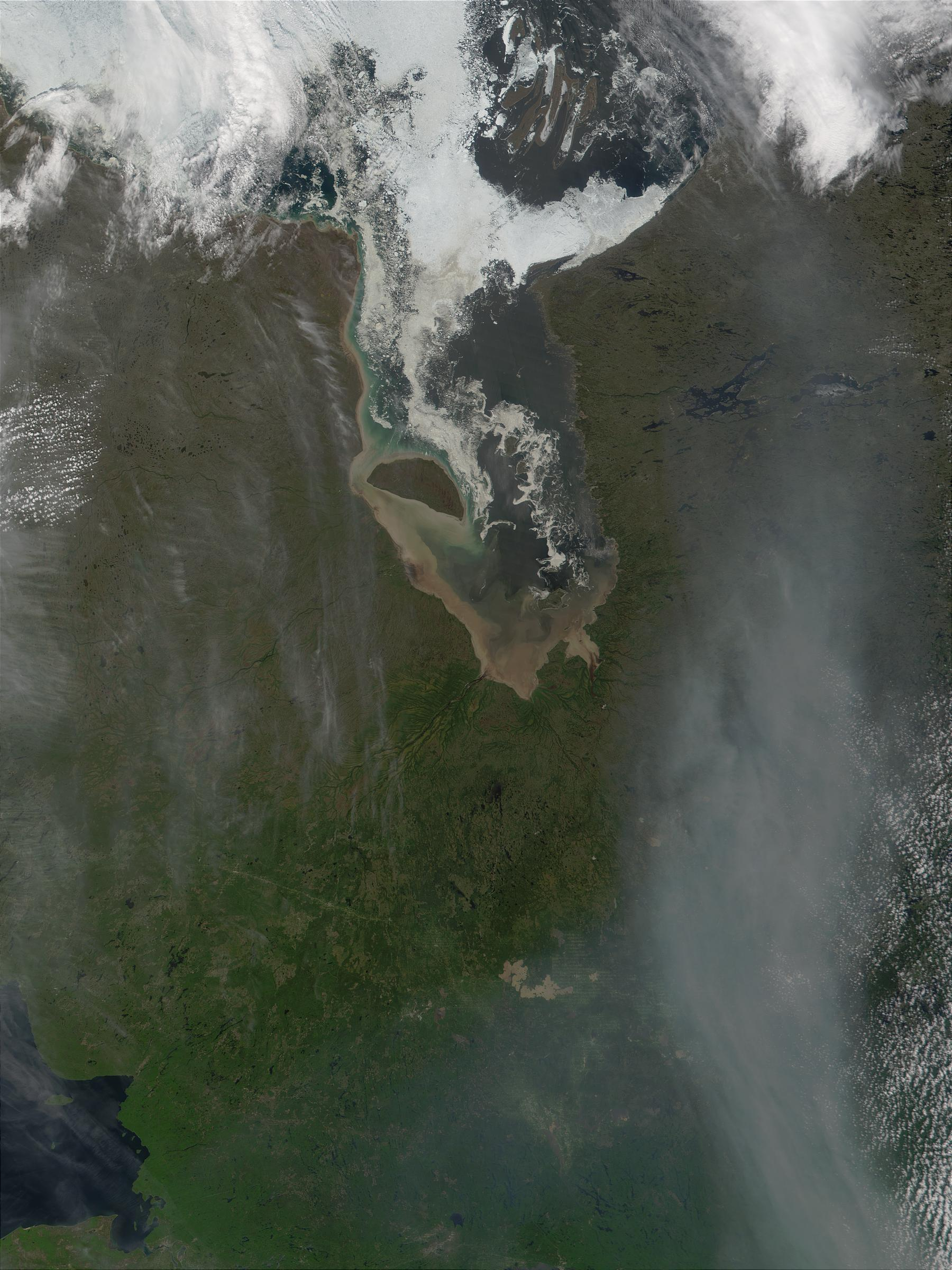 James Bay and smoke from fires in Alberta, Canada - related image preview