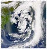 SeaWiFS: Smoke around the Canadian Maritime Provinces - selected image