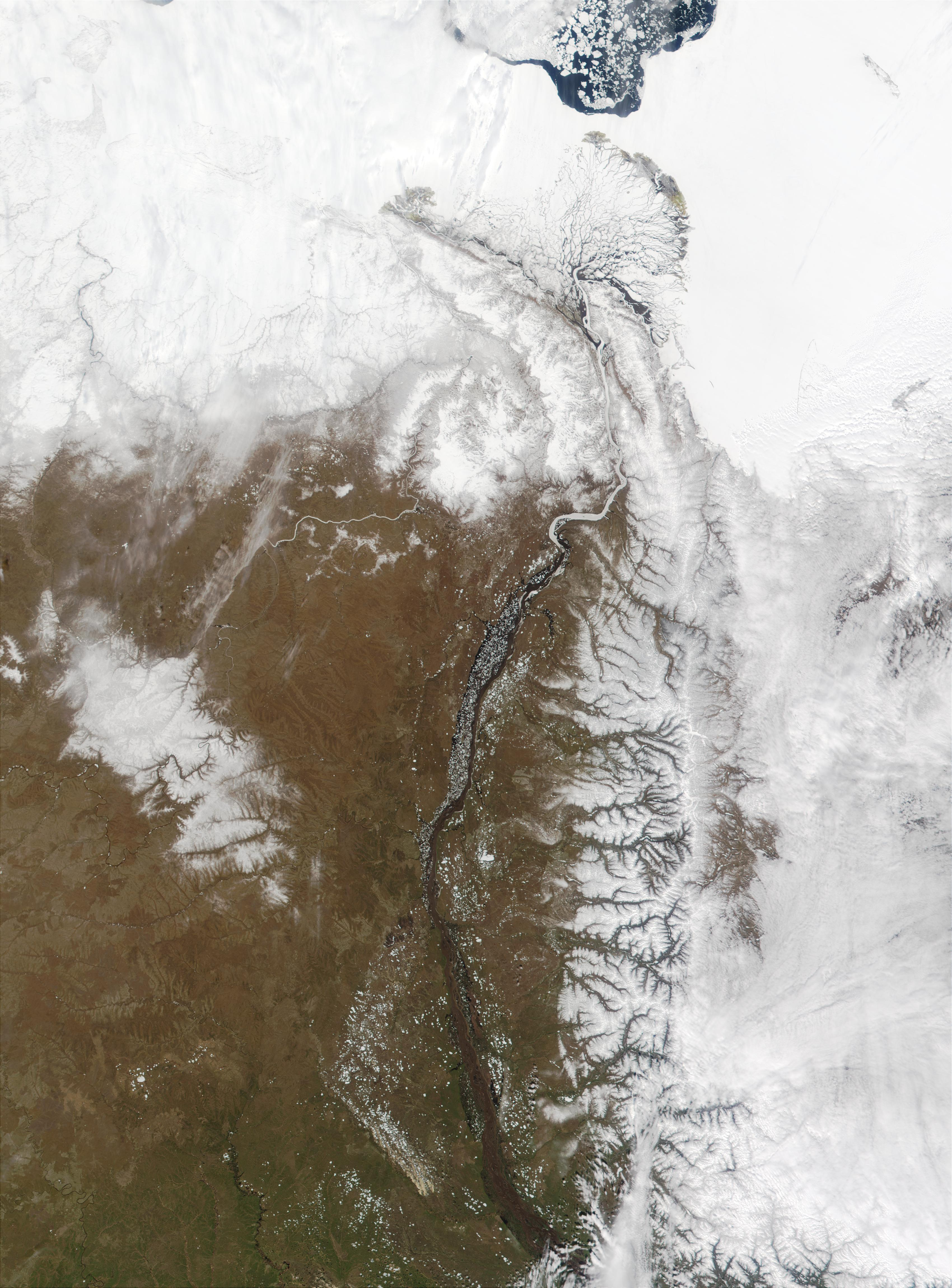 Flooding of the Lena River, Russia - related image preview