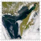 SeaWiFS: Kamchatka Smoke Plume and Contrails - selected image