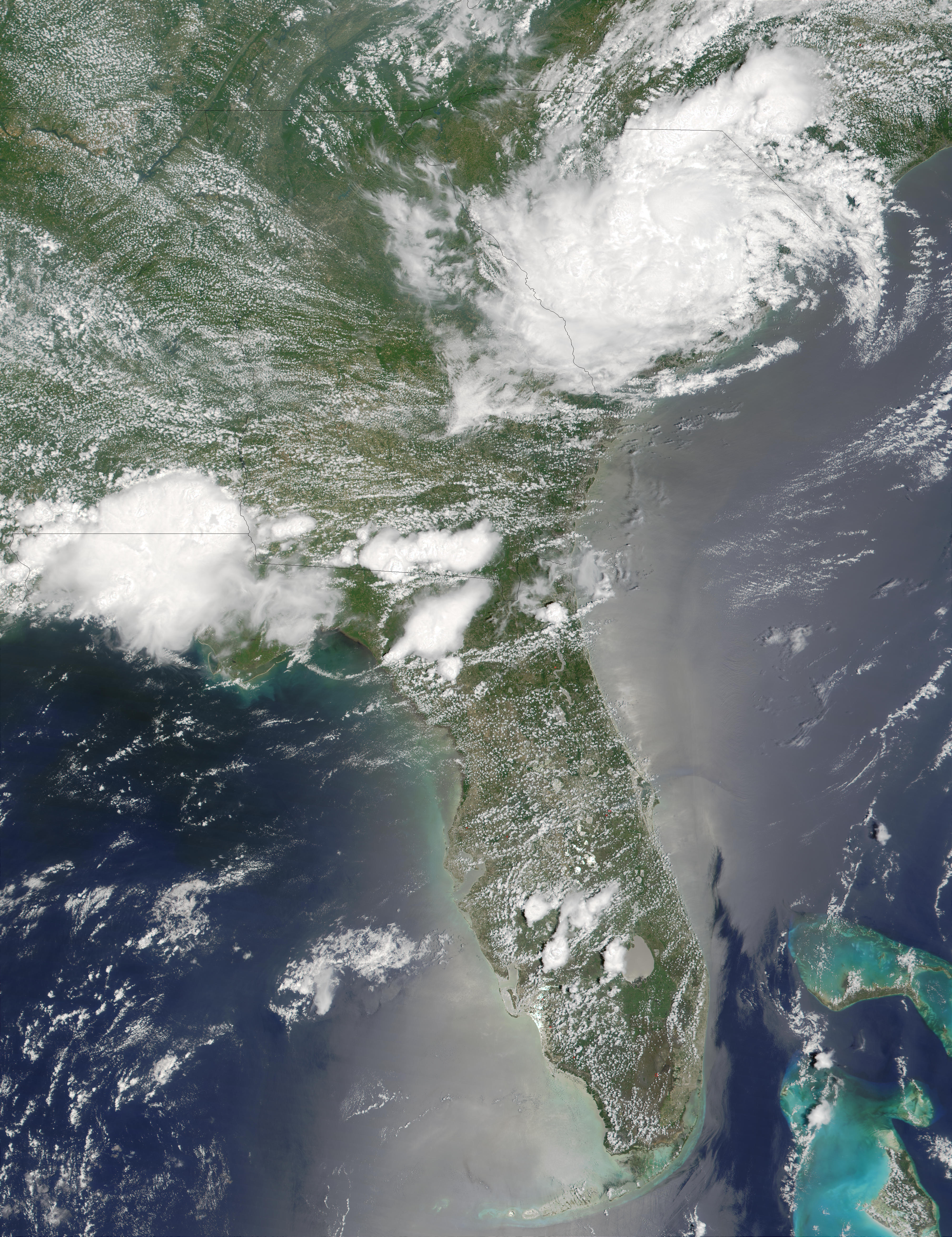 Remnants of Tropical Storm Allison over Southeast United States - related image preview