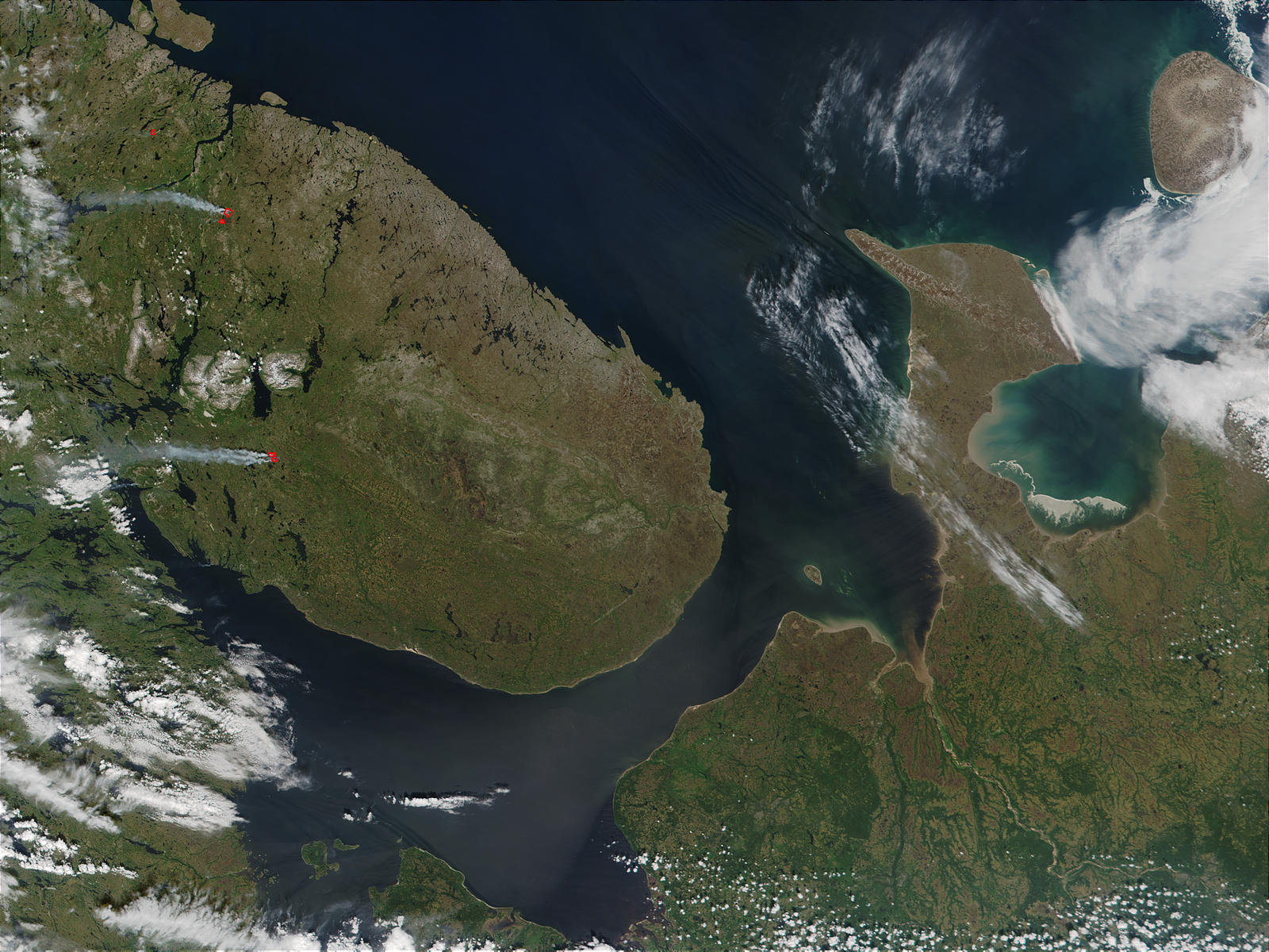 Fires near the White Sea, Russia - related image preview