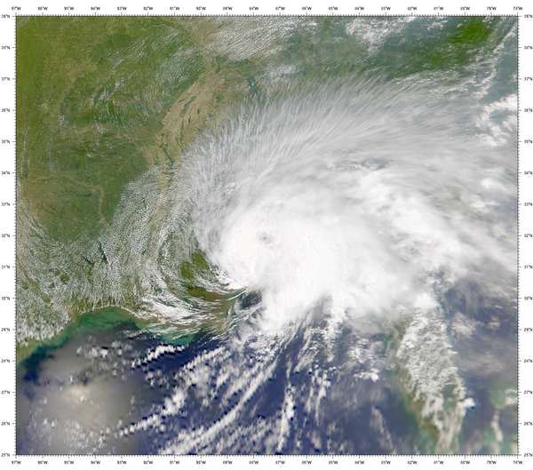 SeaWiFS: Former Tropical Storm Allison - related image preview