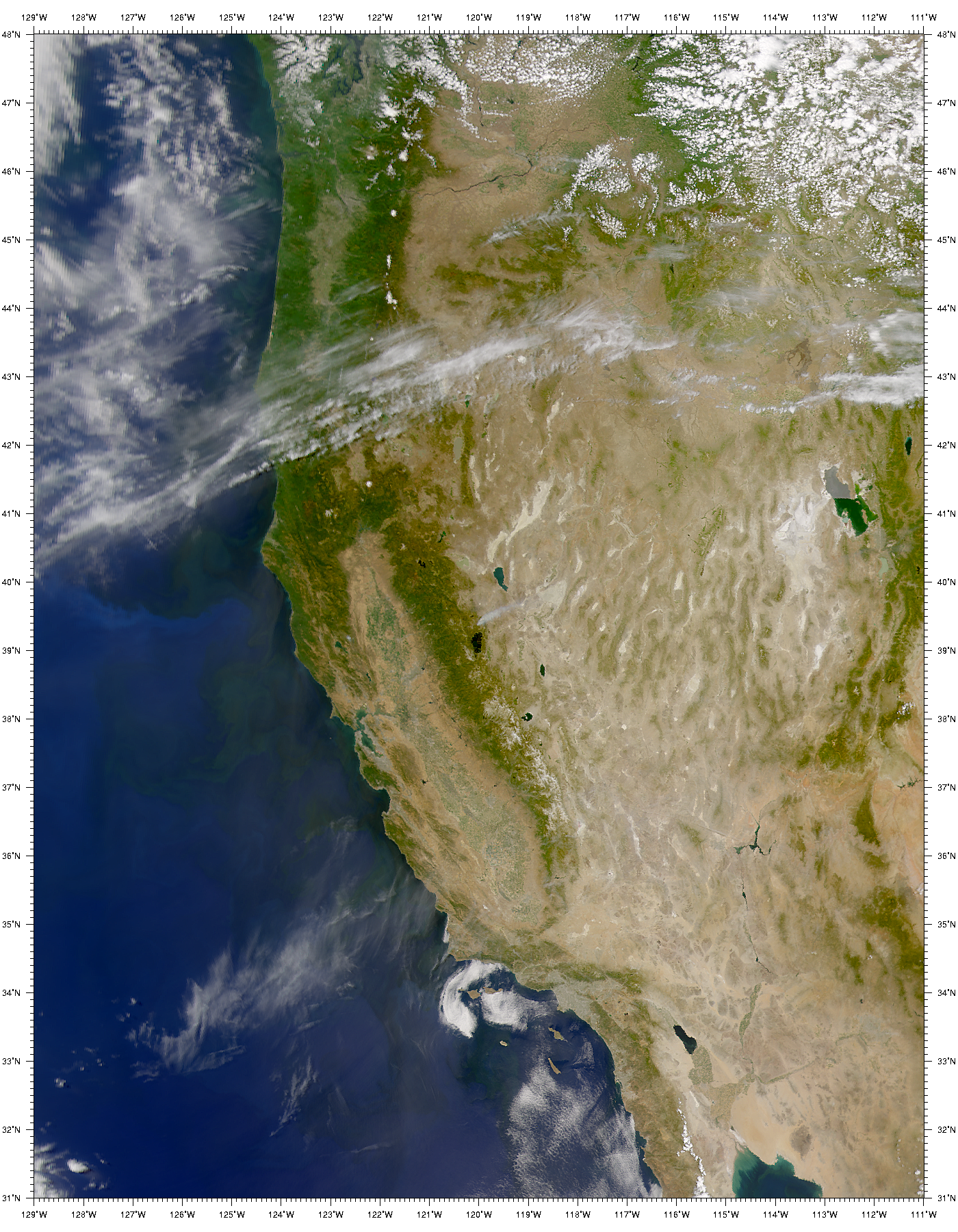 SeaWiFS: Sierra Nevada Forest Fire - related image preview
