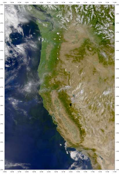 SeaWiFS: Clear Skies over the Western United States - related image preview