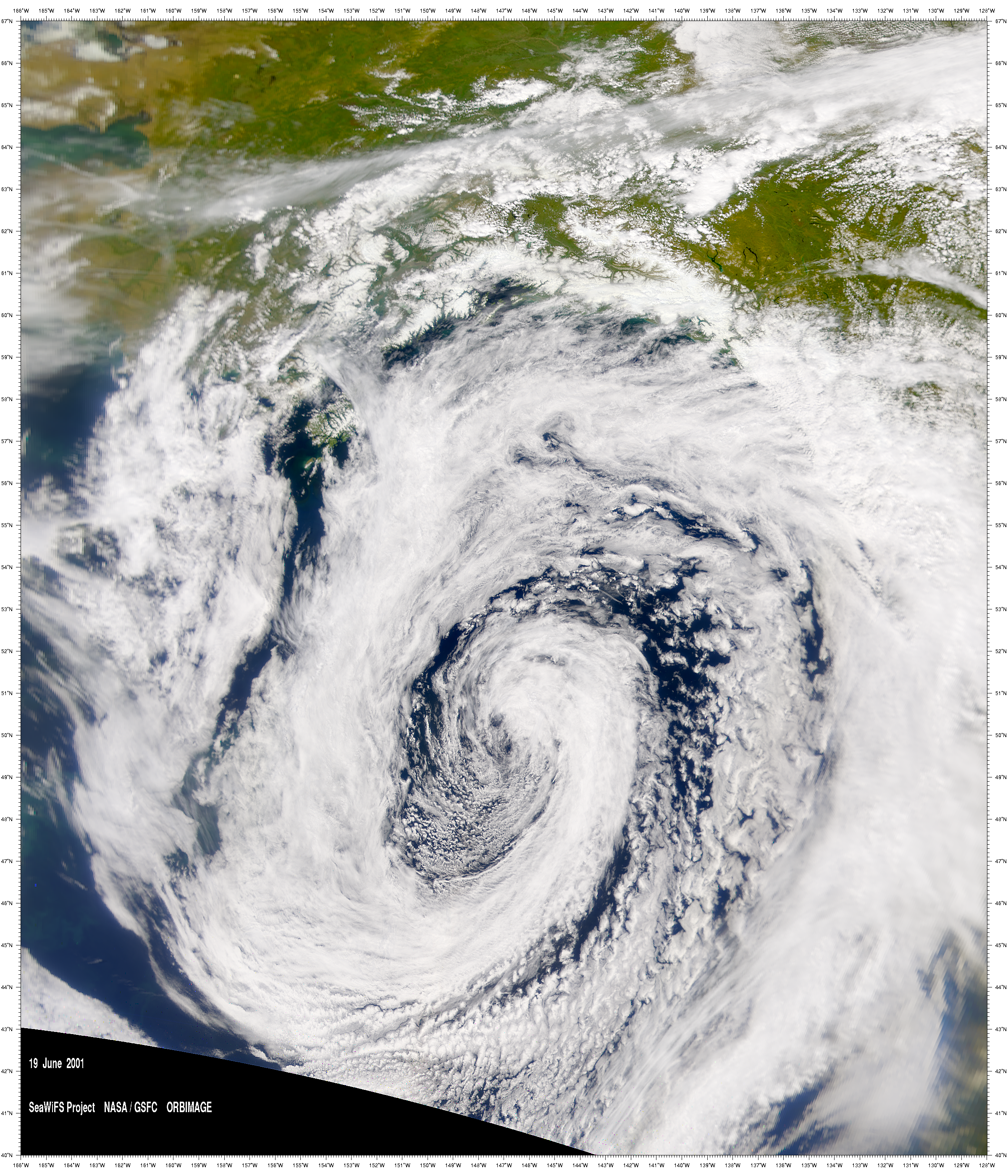 SeaWiFS: Low-Pressure System over the Gulf of Alaska - related image preview