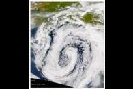 SeaWiFS: Low-Pressure System over the Gulf of Alaska