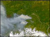 Forest Fires near Fairbanks, AK - selected image