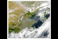 SeaWiFS: Thick Haze From China
