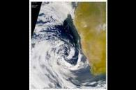 SeaWiFS: Southern African Low Pressure System Moves Dust