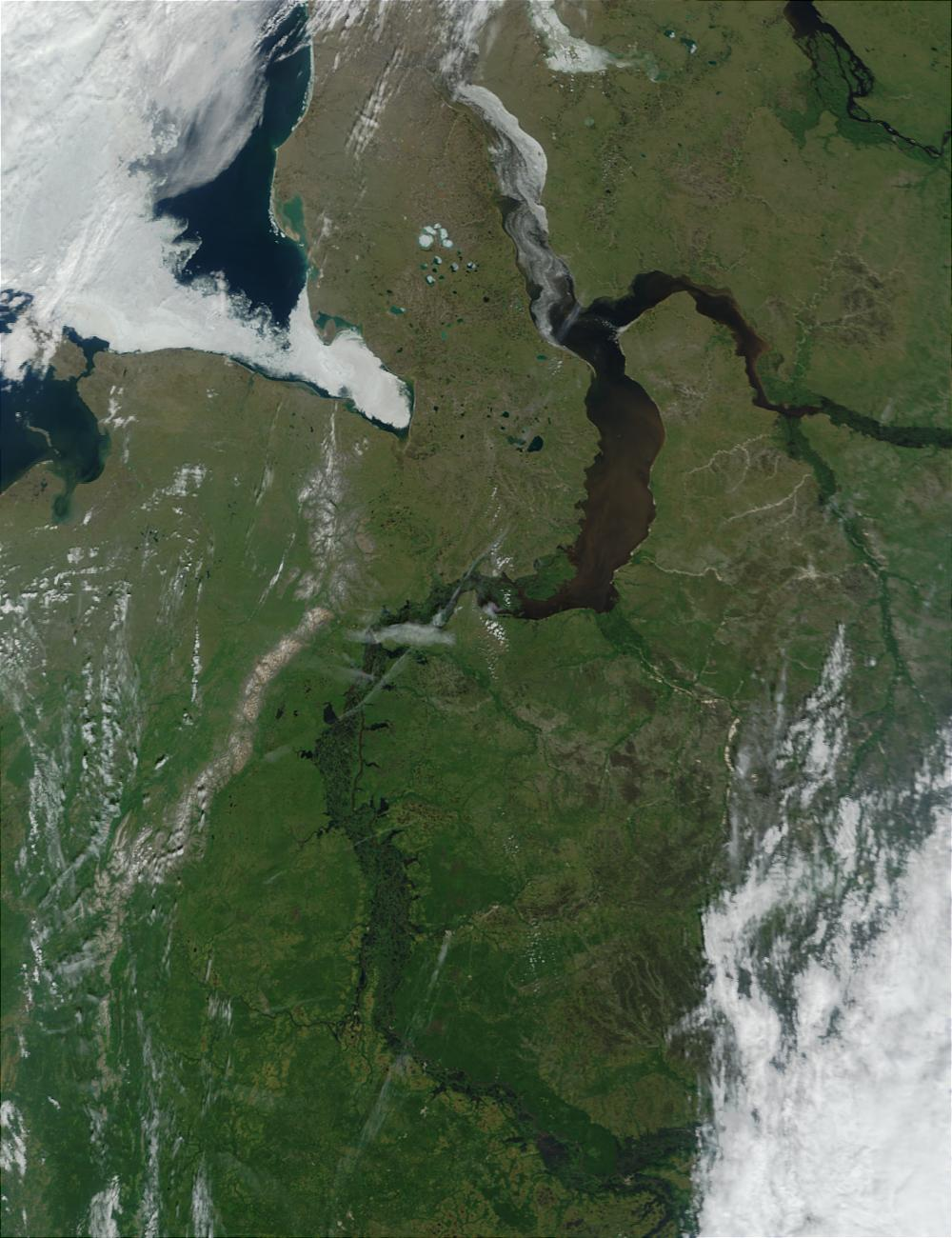 Ural Mountains and Mouth of the Ob River (Obskaya Guba), Northern Russia - related image preview