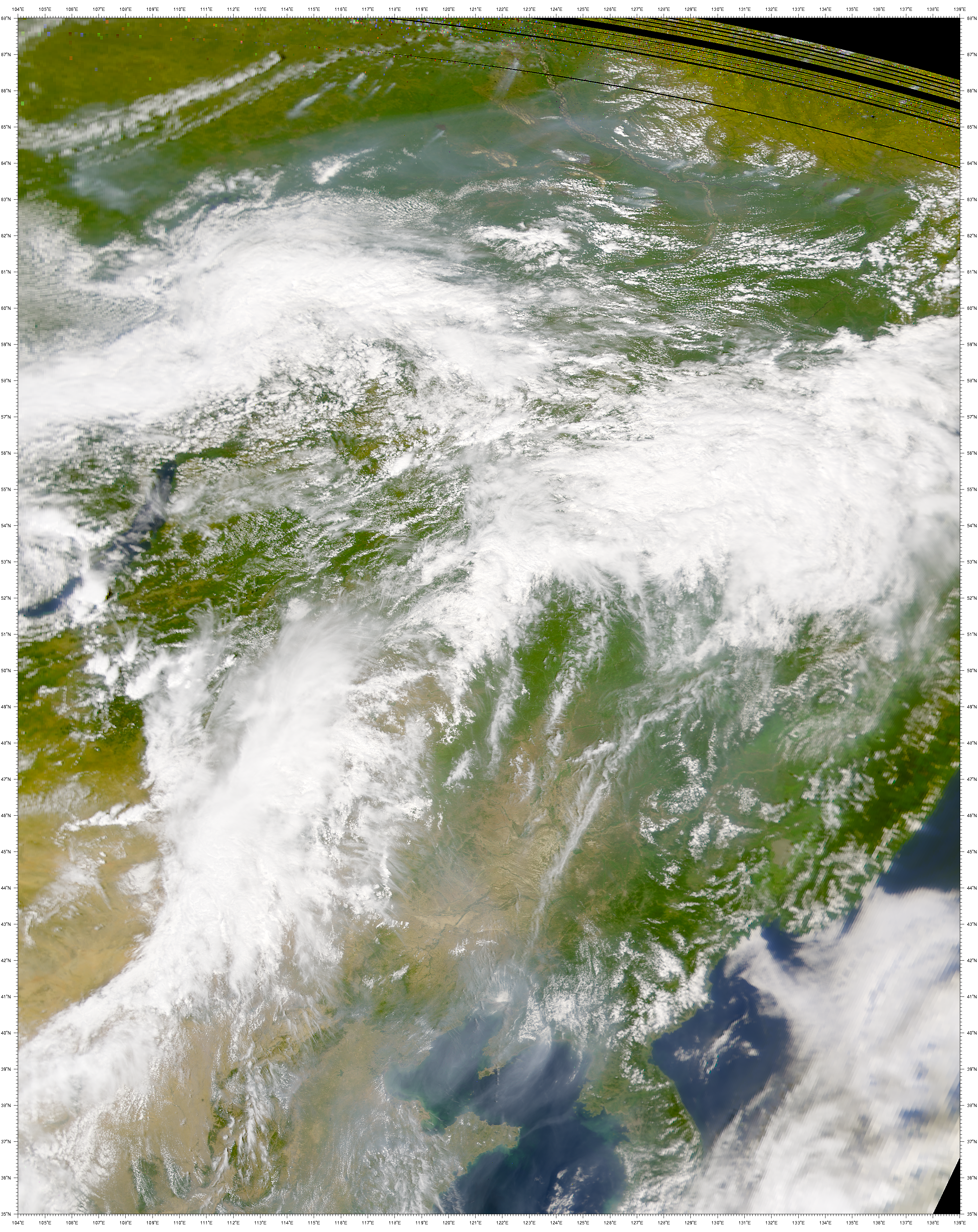 SeaWiFS: Blue-gray Aerosol over China - related image preview