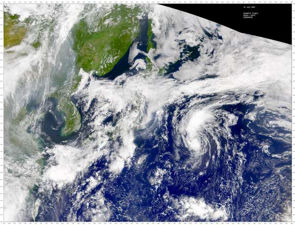 SeaWiFS: Western North Pacific Low, Northern China Smoke - related image preview