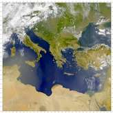 SeaWiFS: Hazy Eastern Mediterranean - selected child image