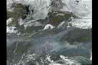 Fires and smoke in Northern Sakha State in Siberia, Russia